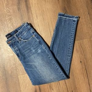 Lucky Brand Raw Hem Hayden Cropped Jeans